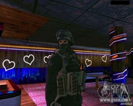 La seconde peau de CoD MW 2 pour GTA San Andreas deuxième écran