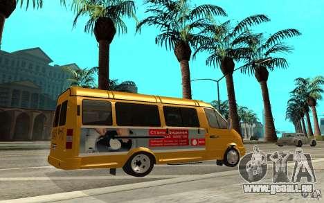 Gazelle 32213 (Restajl) pour GTA San Andreas laissé vue