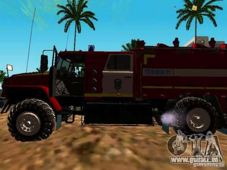 Feu Oural 5557-40 pour GTA San Andreas vue arrière