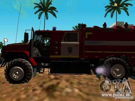 Ural 5557-40 Feuer für GTA San Andreas Rückansicht