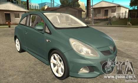 Vauxhall Corsa VXR pour GTA San Andreas vue intérieure