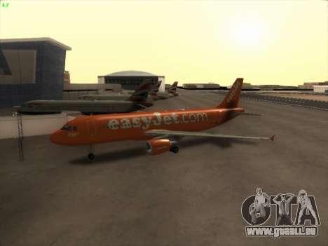 Airbus A320-214 EasyJet 200th Plane pour GTA San Andreas laissé vue