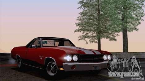 Chevrolet El Camino SS 70 Fixed Version pour GTA San Andreas sur la vue arrière gauche