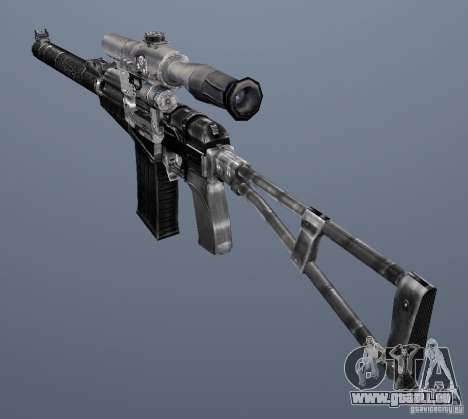 Comme fusil d'assaut de Val pour GTA San Andreas cinquième écran