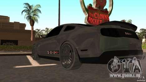 Shelby Mustang 1000 pour GTA San Andreas sur la vue arrière gauche