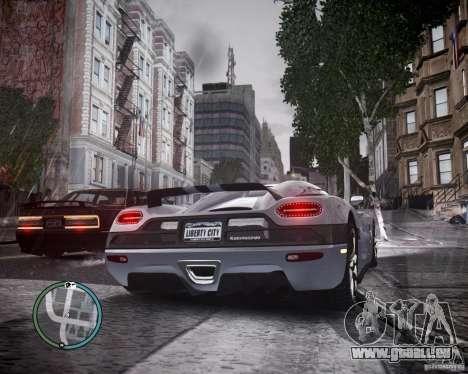Koenigsegg Agera für GTA 4 rechte Ansicht