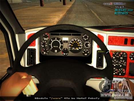 Kenworth T2000 v 2.5 für GTA San Andreas Innen