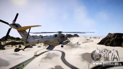 MH-53 Pavelow v1.1 pour GTA 4 Vue arrière de la gauche