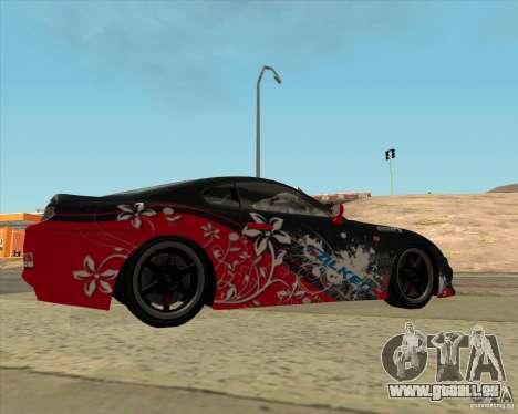 Toyota Supra by Cyborg ProductionS pour GTA San Andreas laissé vue