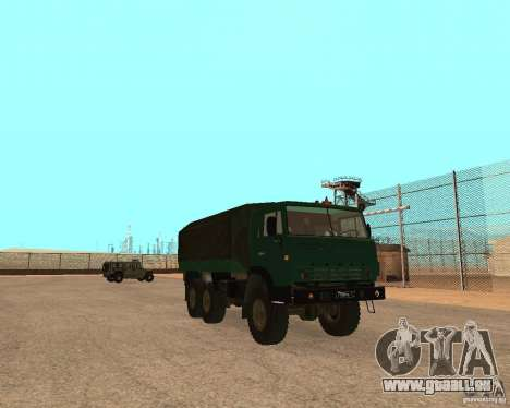 KAMAZ 4310 pour GTA San Andreas sur la vue arrière gauche