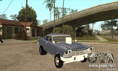 Plymouth Savoy Gasser 1957 für GTA San Andreas Rückansicht