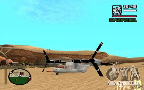 Bell V-22 Osprey pour GTA San Andreas vue de droite