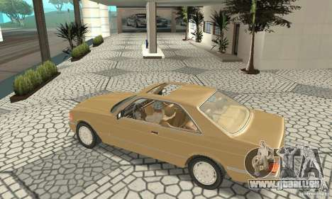 Mercedes-Benz W126 560SEC pour GTA San Andreas vue arrière