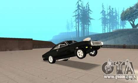 Dodge Charger RT 1970 The Fast & The Furious pour GTA San Andreas vue de côté