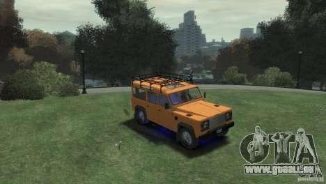 Land Rover Defender Station Wagon 110 für GTA 4 rechte Ansicht