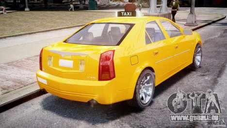 Cadillac CTS Taxi pour GTA 4 Vue arrière de la gauche