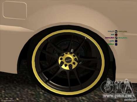 BMW M3 pour GTA San Andreas vue de côté