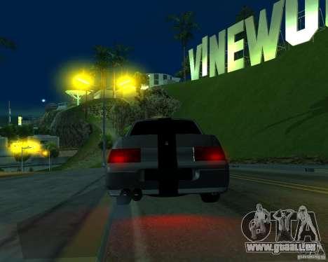 VAZ 2110 pour GTA San Andreas sur la vue arrière gauche