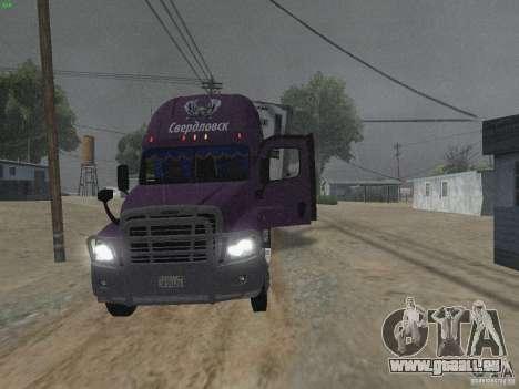Freightliner Cascadia für GTA San Andreas Innenansicht