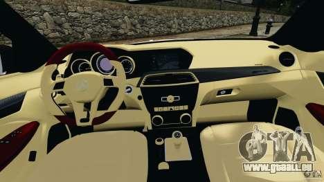 Mercedes-Benz C63 AMG 2012 pour GTA 4 Vue arrière