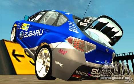 Nouveau vinyle pour Subaru Impreza WRX STi pour GTA San Andreas sur la vue arrière gauche