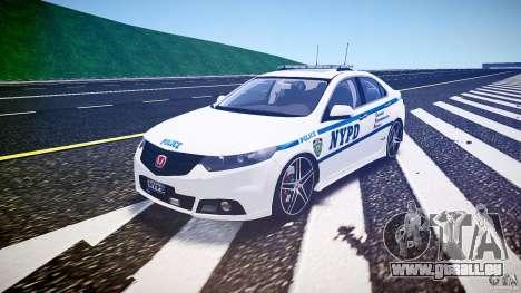 Honda Accord Type R NYPD (City Patrol 2322) ELS für GTA 4 Rückansicht