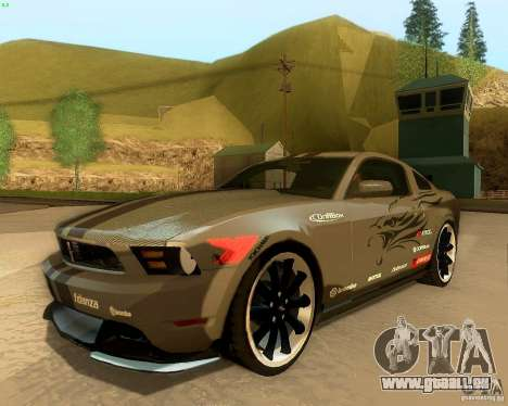 Ford Mustang Boss 302 2011 für GTA San Andreas obere Ansicht