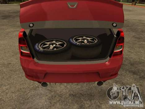 Dacia Logan Rally Dirt pour GTA San Andreas vue arrière
