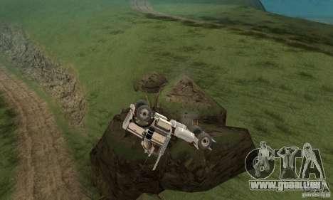 Peterbilt 289 pour GTA San Andreas vue intérieure