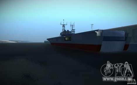Porte-avions V2 finale pour GTA San Andreas deuxième écran