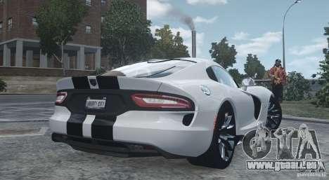 Dodge Viper SRT GTS 2013 pour GTA 4 Vue arrière de la gauche