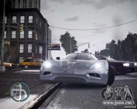 Koenigsegg Agera pour GTA 4 est une gauche
