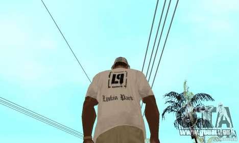 LP shirt white für GTA San Andreas zweiten Screenshot