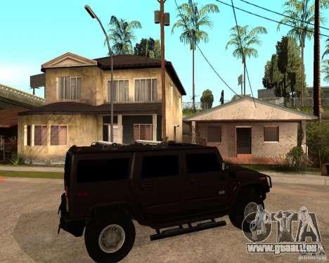 Hummer H2 SE pour GTA San Andreas vue de droite