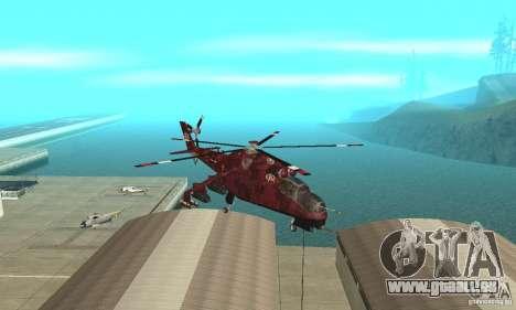Mil Mi-24 für GTA San Andreas Rückansicht