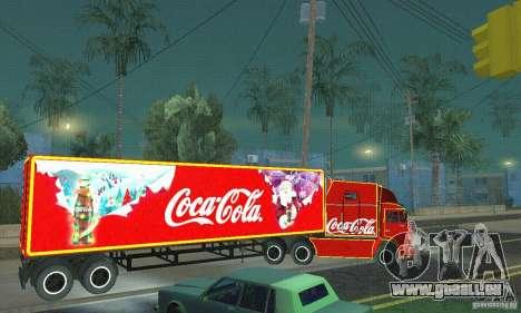 KAMAZ 54112 Noël pour GTA San Andreas laissé vue