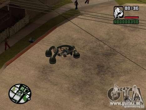 New Bravura UFO für GTA San Andreas zurück linke Ansicht
