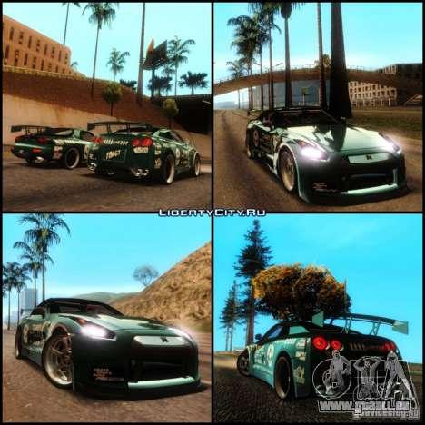 Nissan GT-R R35 rEACT pour GTA San Andreas vue intérieure