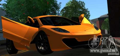 McLaren MP4-12C TT Black Revel pour GTA San Andreas salon