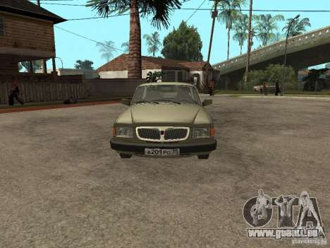 GAZ 3110 v 1 pour GTA San Andreas vue de droite