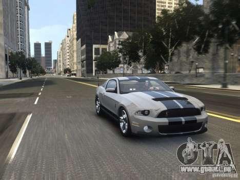 Shelby GT500 2010 pour GTA 4 est un droit