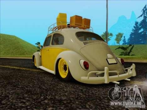 Volkswagen Beetle Edit pour GTA San Andreas laissé vue
