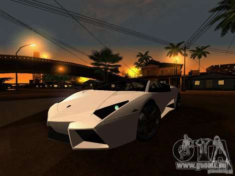 Lamborghini Reventon Roadster pour GTA San Andreas laissé vue