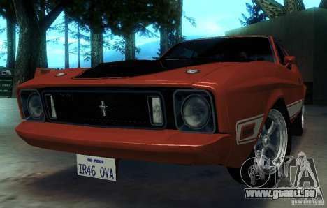 Ford Mustang Mach1 1973 für GTA San Andreas obere Ansicht