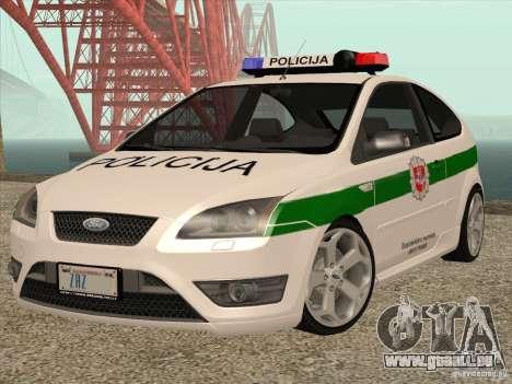 Ford Focus ST Policija für GTA San Andreas