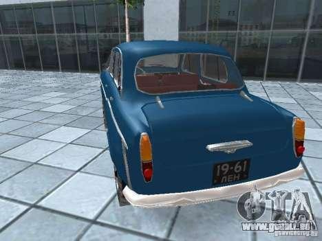 Moskvitsch 410 4 x 4 für GTA San Andreas zurück linke Ansicht