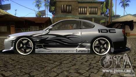Nissan Silvia S15 Logan pour GTA San Andreas laissé vue