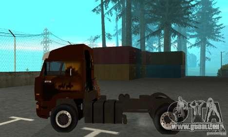 KAMAZ 5460 4 peau pour GTA San Andreas sur la vue arrière gauche
