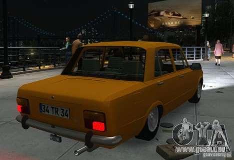 Fiat 124 pour GTA 4 est une vue de l'intérieur