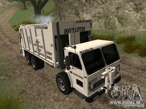 Camion à ordures de GTA 4 pour GTA San Andreas vue intérieure